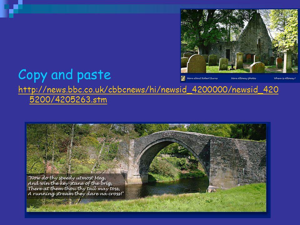 Copy and paste http://news.bbc.co.uk/cbbcnews/hi/newsid_4200000/newsid_4205200/4205263.stm