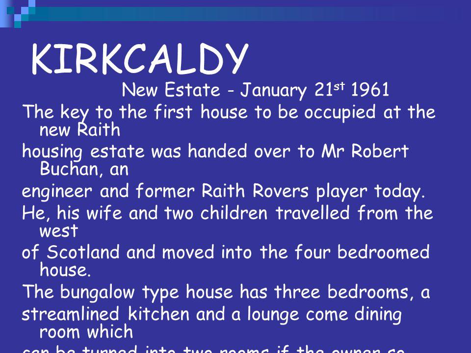 KIRKCALDY New Estate - January 21st 1961