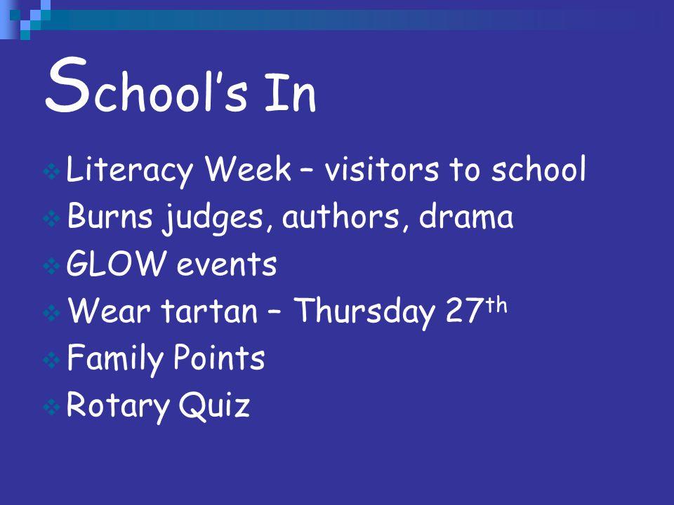 School's In Literacy Week – visitors to school