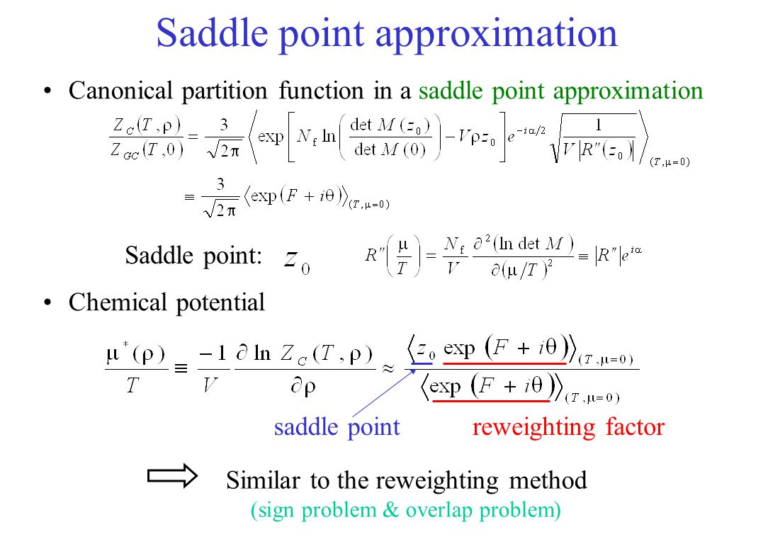 Saddle point approximation