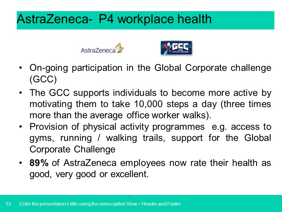 AstraZeneca- P4 workplace health