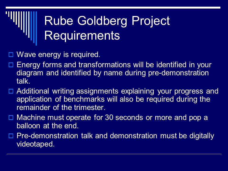 Rube Goldberg Project Requirements