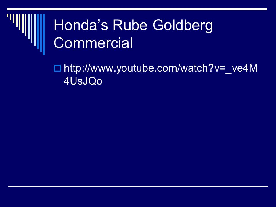 Honda's Rube Goldberg Commercial