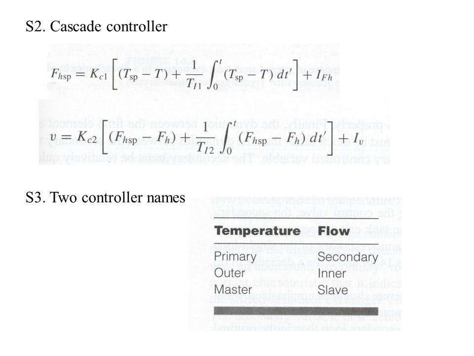 S2. Cascade controller S3. Two controller names