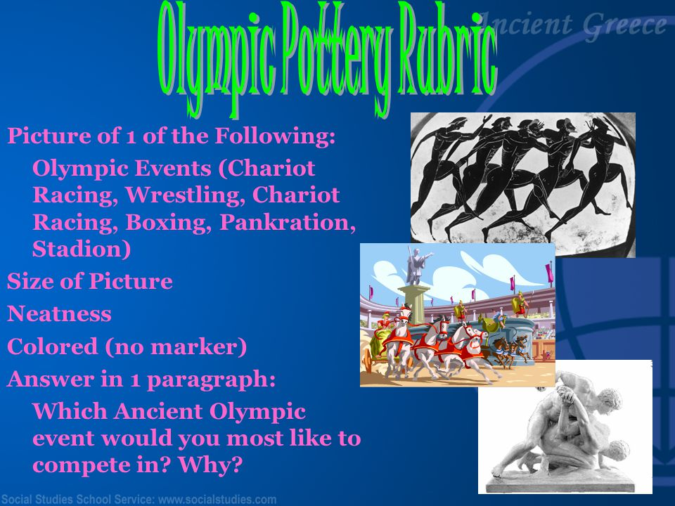 Olympic Pottery Rubric