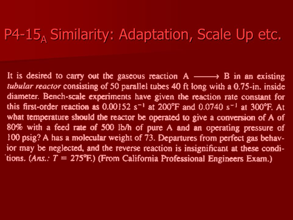 P4-15A Similarity: Adaptation, Scale Up etc.