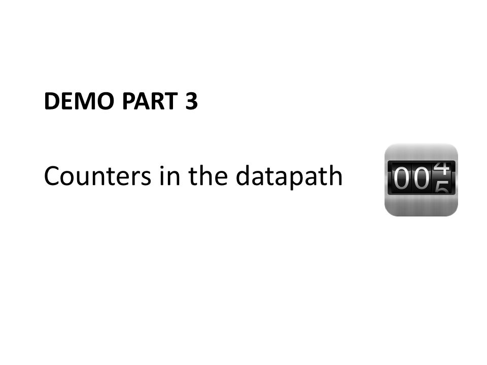Counters in the datapath
