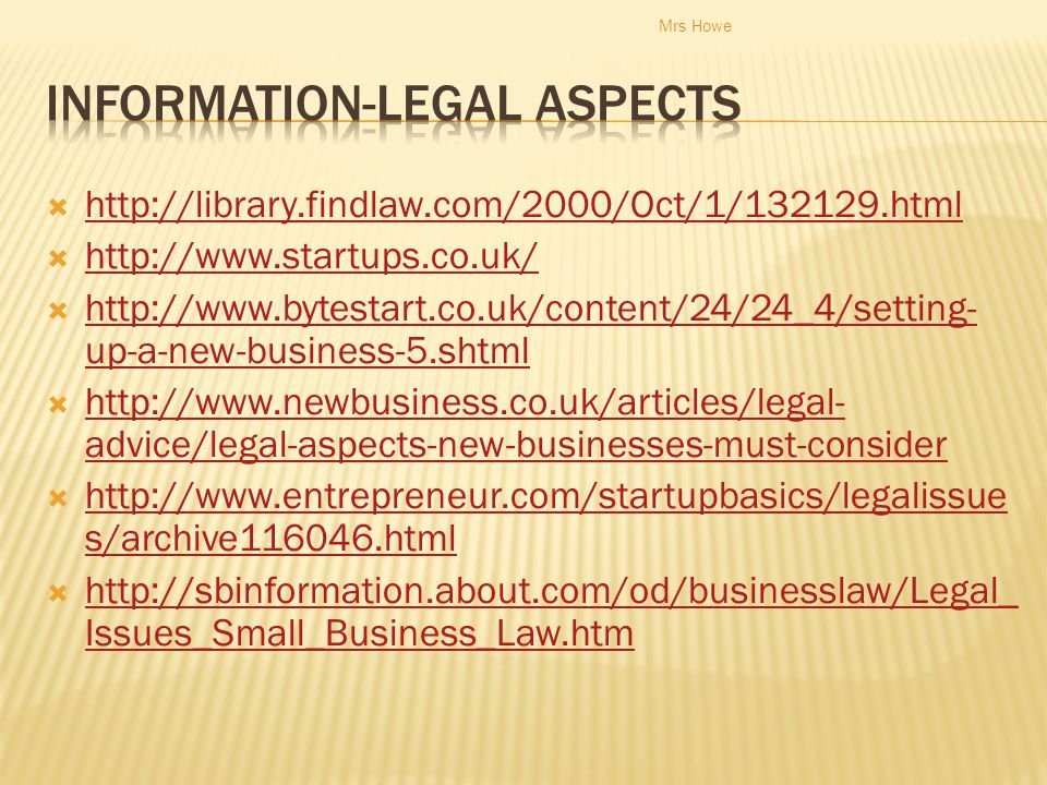 Information-Legal Aspects