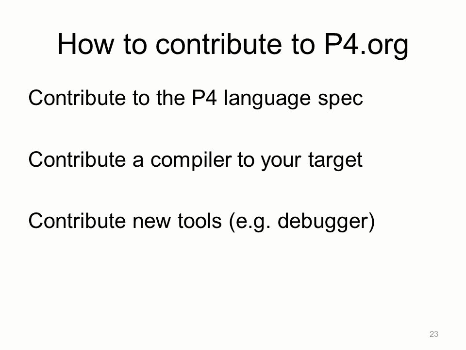 How to contribute to P4.org