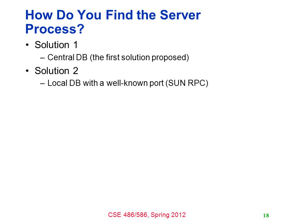 How Do You Find the Server Process