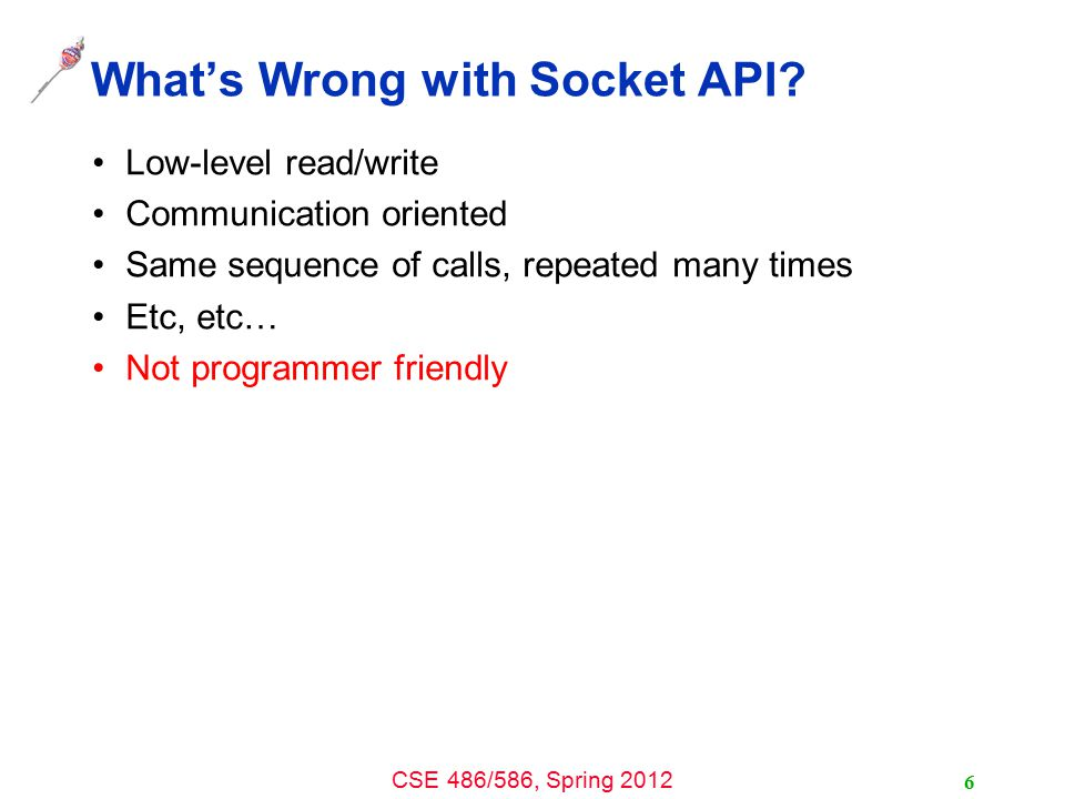 What's Wrong with Socket API