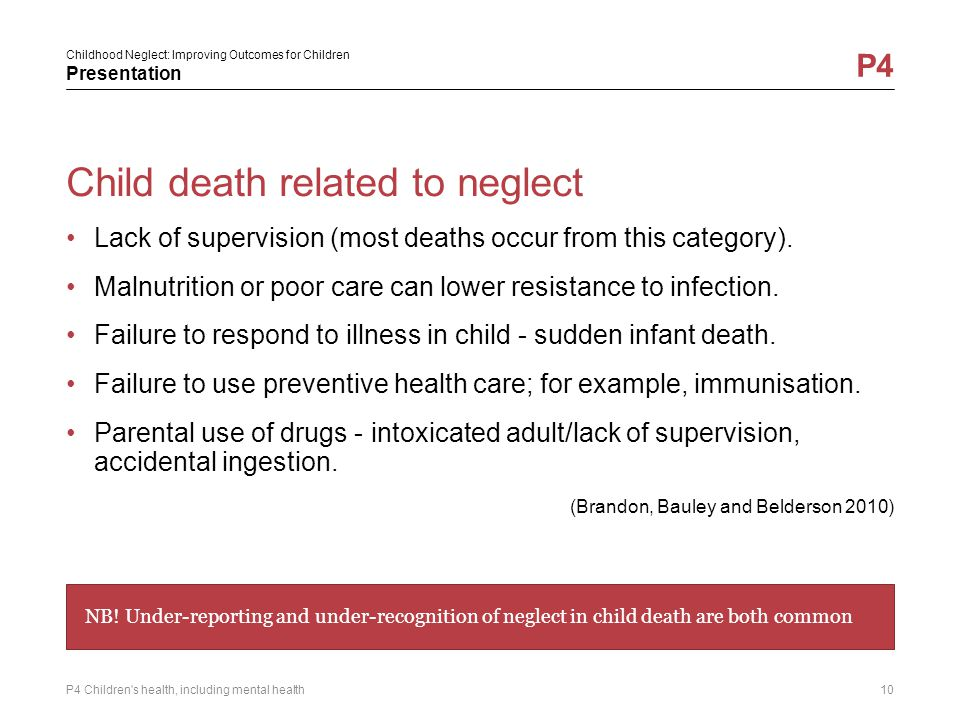 Child death related to neglect