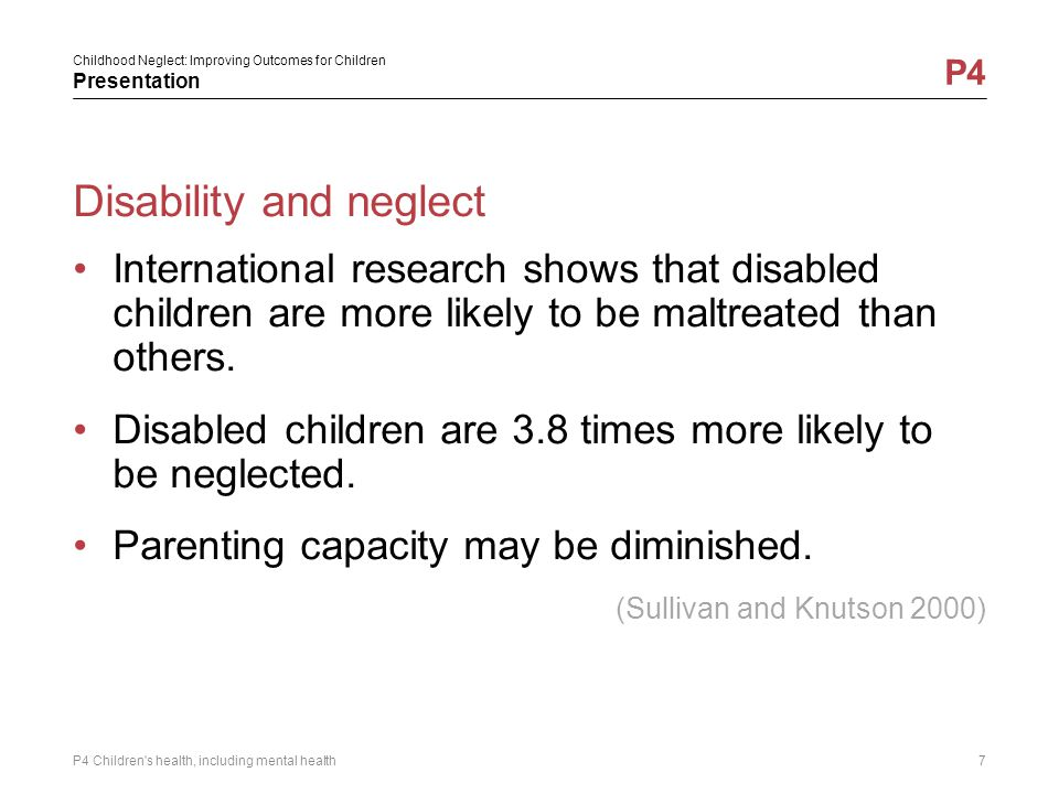 Disability and neglect