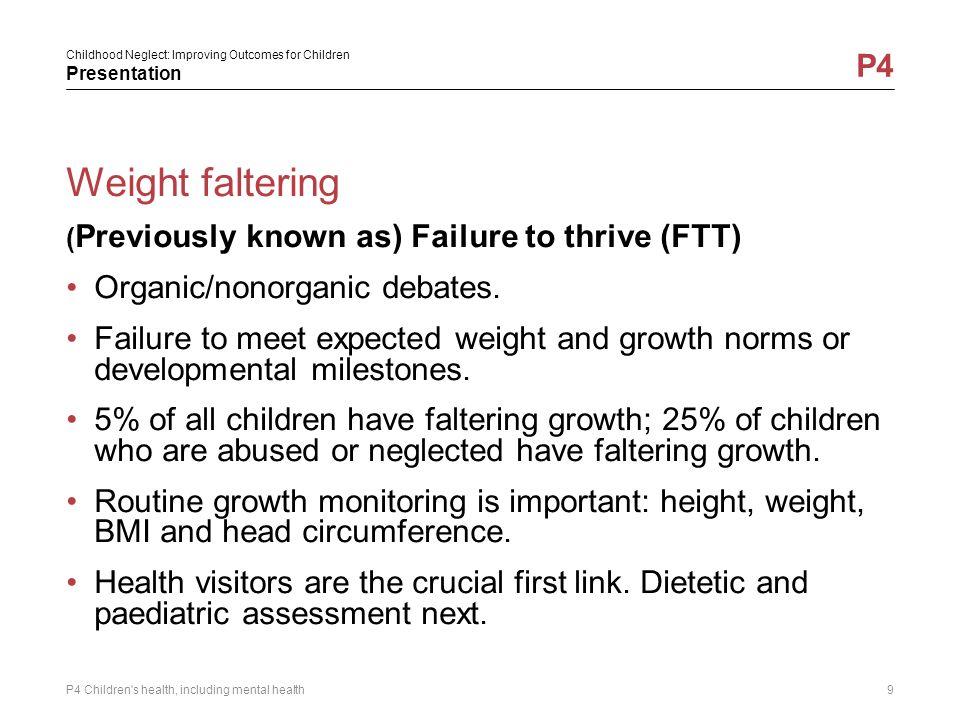 Weight faltering Organic/nonorganic debates.