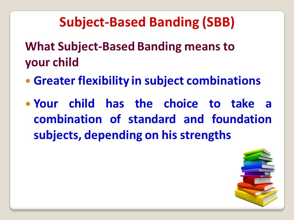 Subject-Based Banding (SBB)