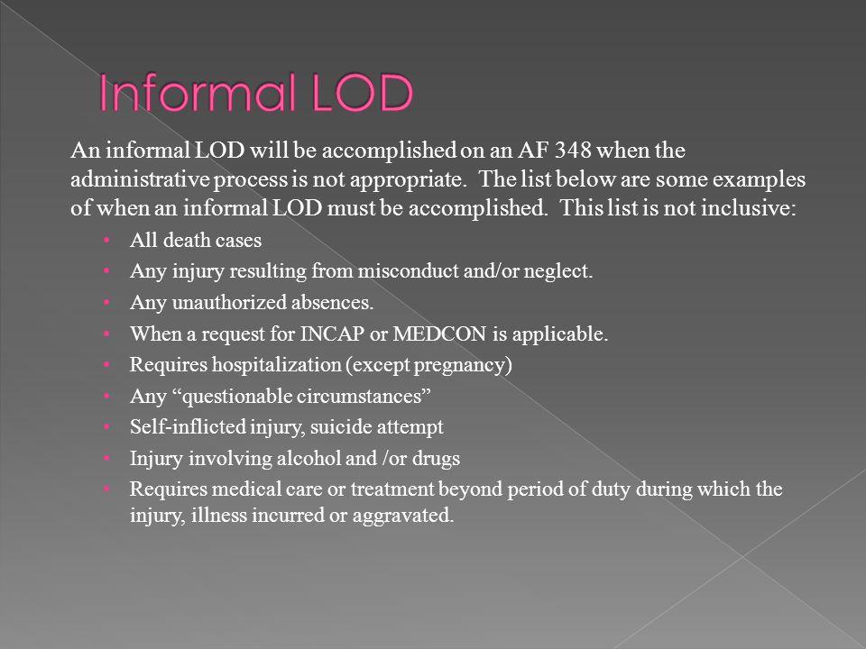 Informal LOD