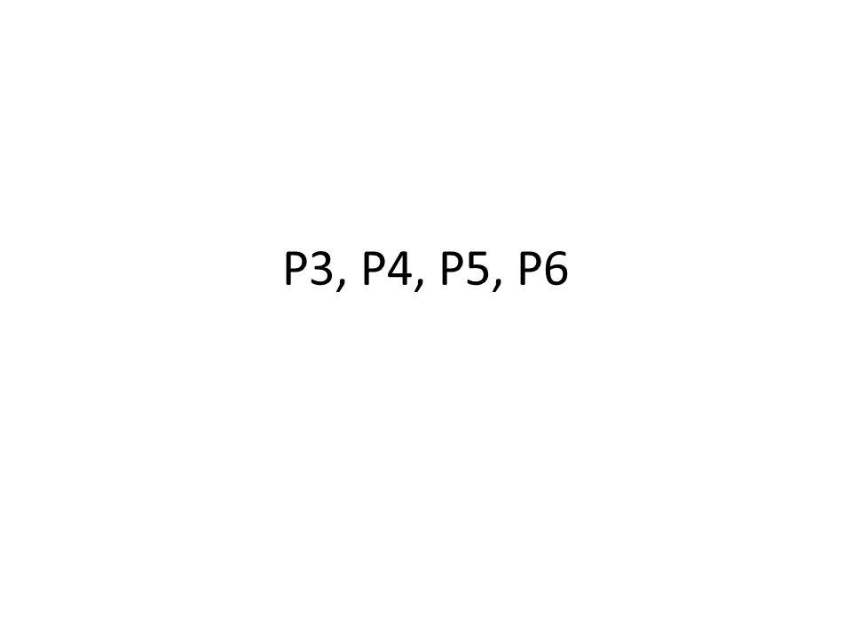 P3, P4, P5, P6