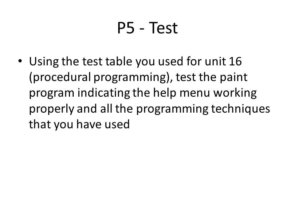 P5 - Test
