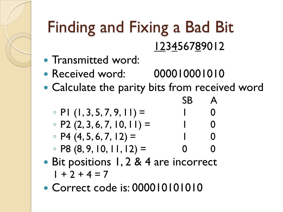 Finding and Fixing a Bad Bit