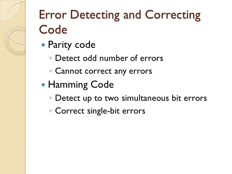 Error Detecting and Correcting Code