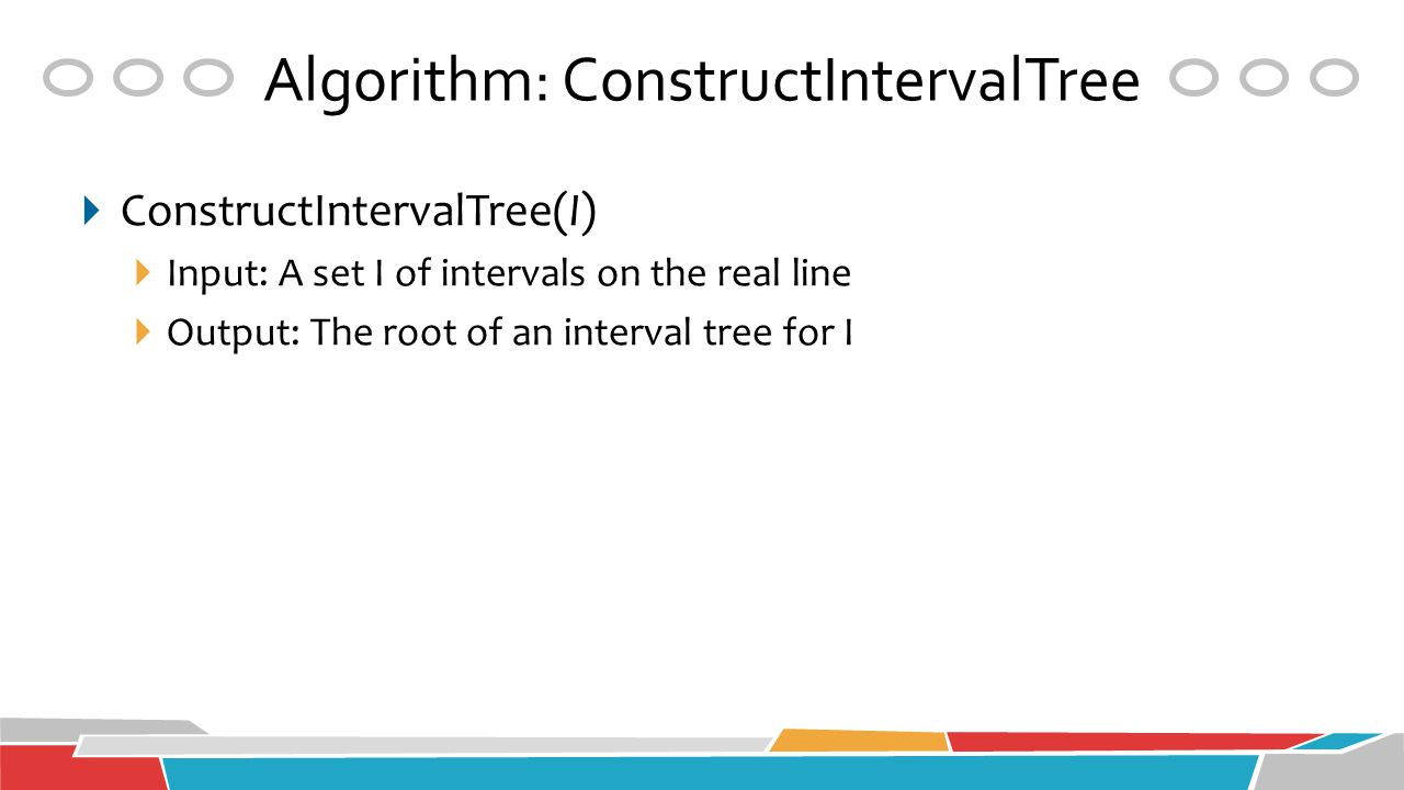 Algorithm: ConstructIntervalTree