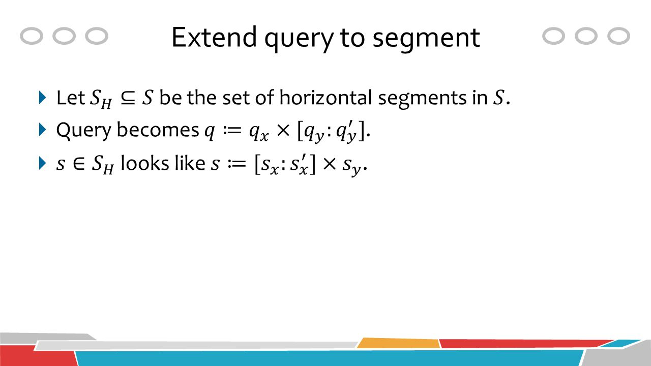 Extend query to segment