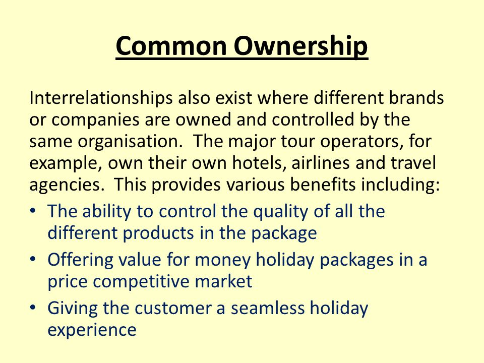 Common Ownership