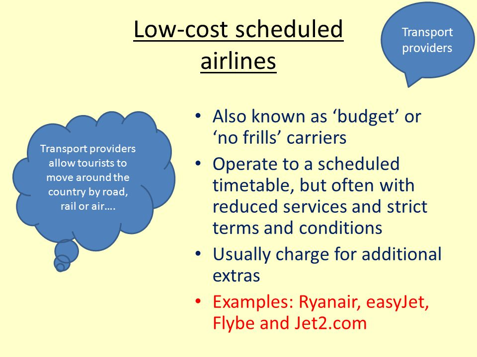 Low-cost scheduled airlines
