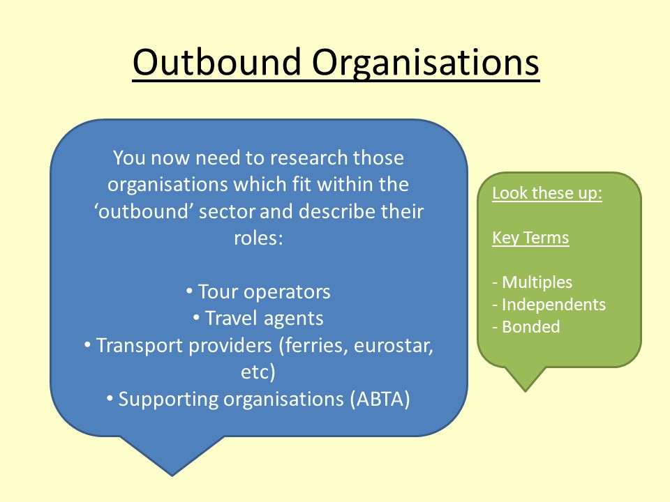 Outbound Organisations