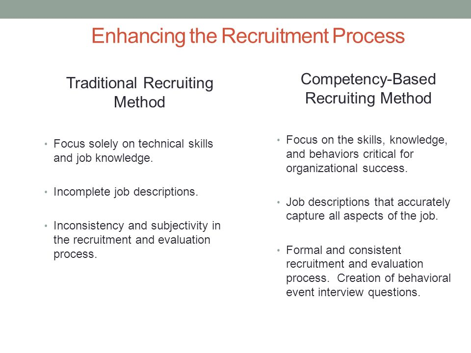 Enhancing the Recruitment Process
