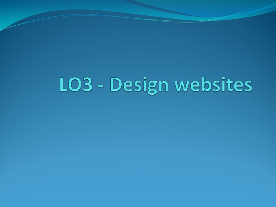 LO3 - Design websites