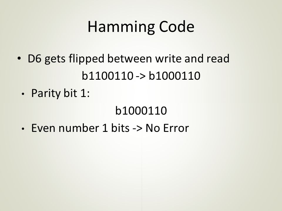 Hamming Code D6 gets flipped between write and read
