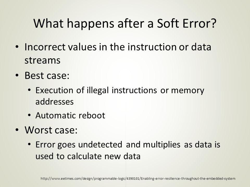 What happens after a Soft Error