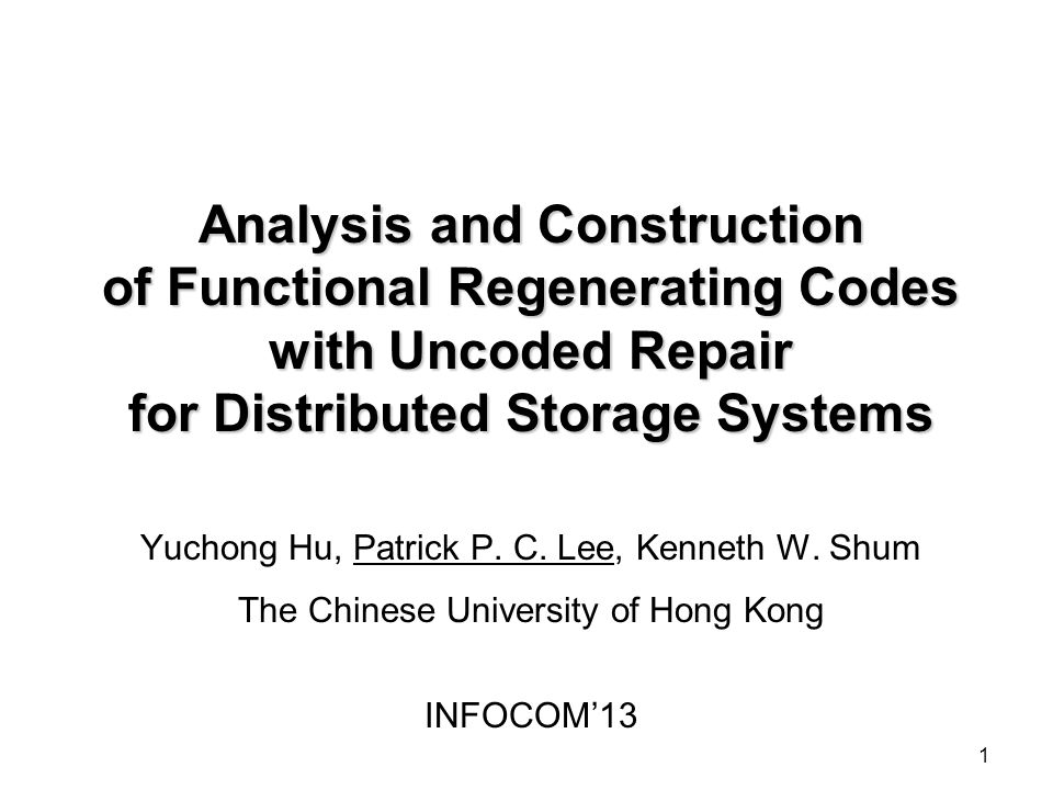 Analysis and Construction of Functional Regenerating Codes with Uncoded Repair for Distributed Storage Systems
