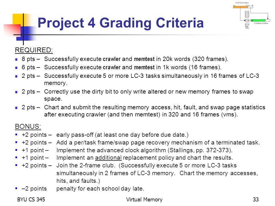 Project 4 Grading Criteria