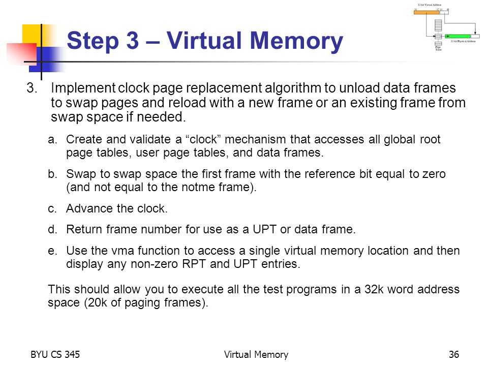 Step 3 – Virtual Memory