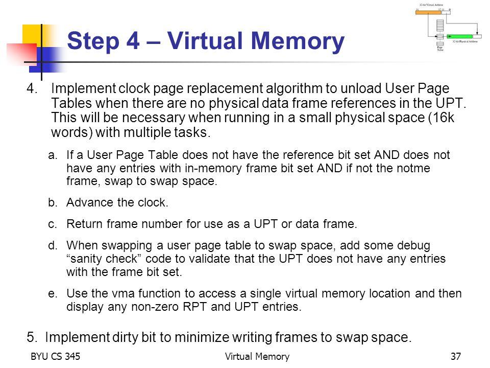Step 4 – Virtual Memory