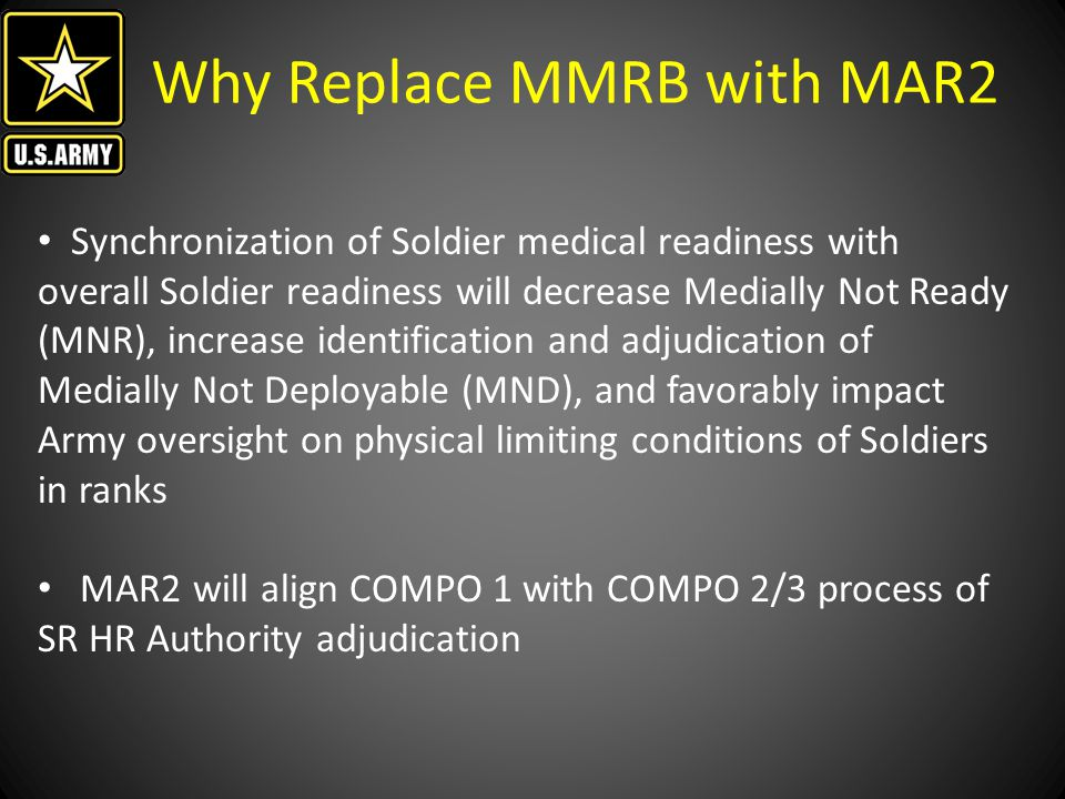 Why Replace MMRB with MAR2
