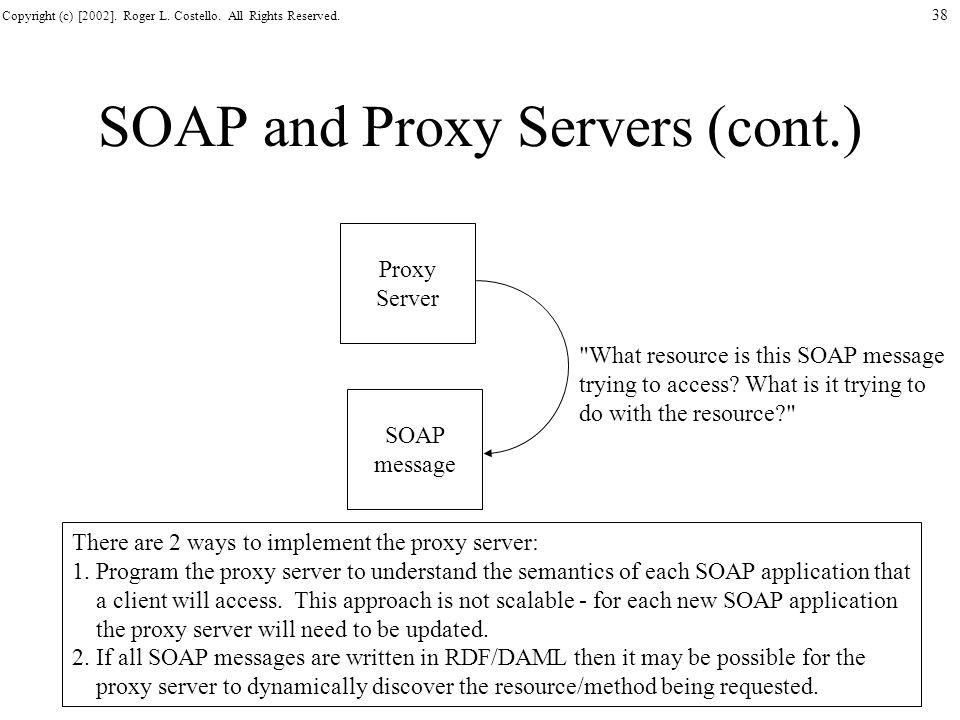 SOAP and Proxy Servers (cont.)