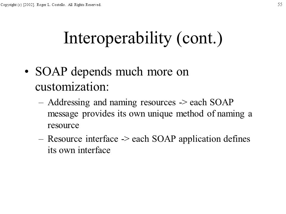 Interoperability (cont.)
