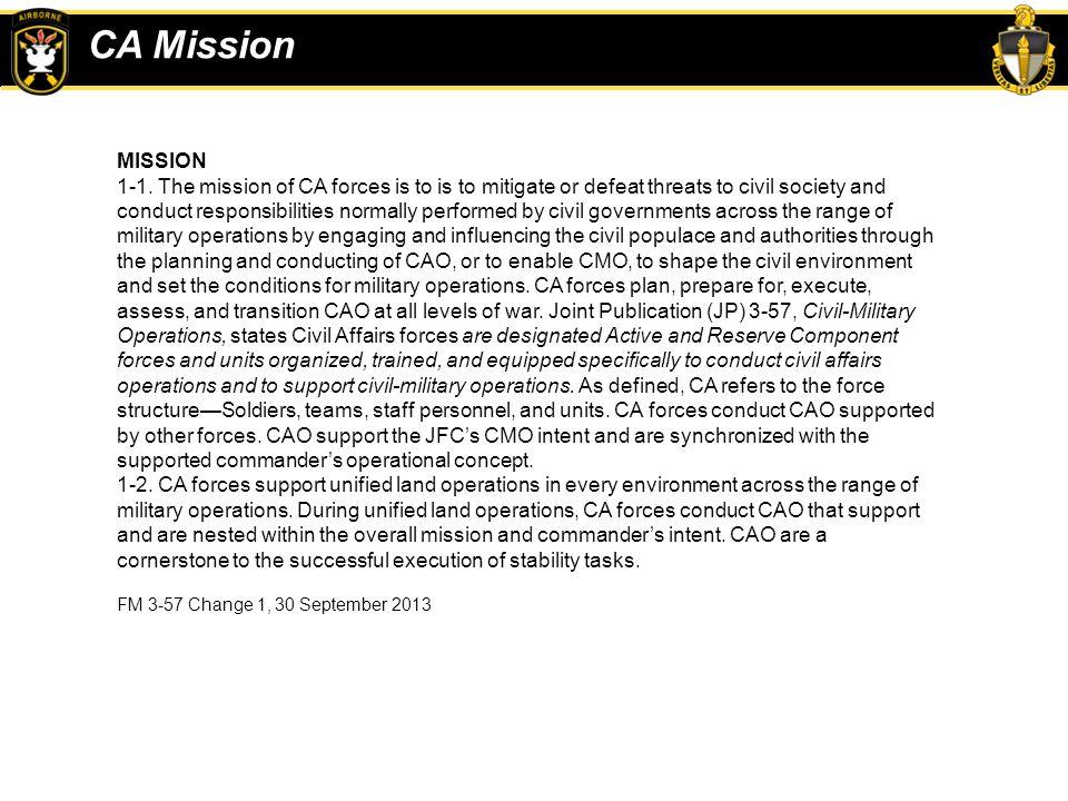 CA Mission MISSION.