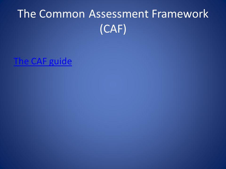 The Common Assessment Framework (CAF)