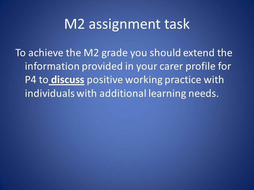 M2 assignment task