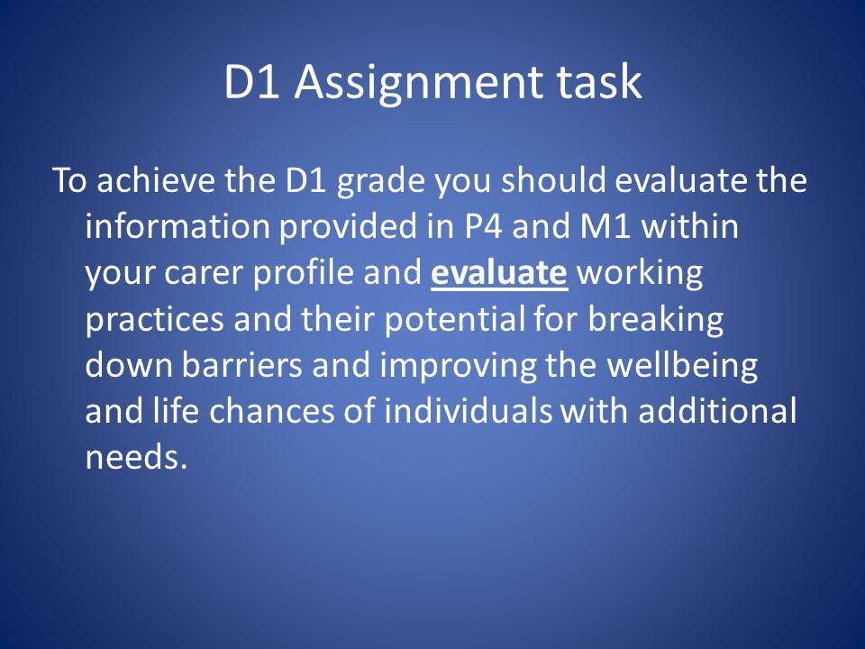 D1 Assignment task