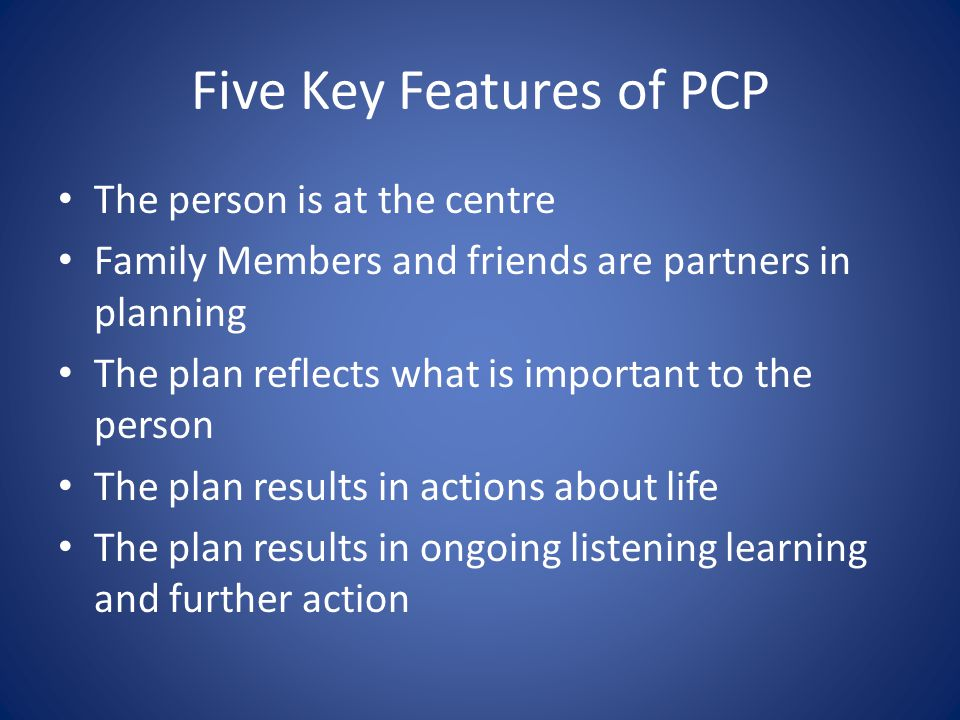 Five Key Features of PCP
