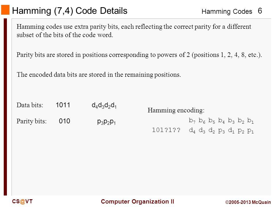 Hamming (7,4) Code Details