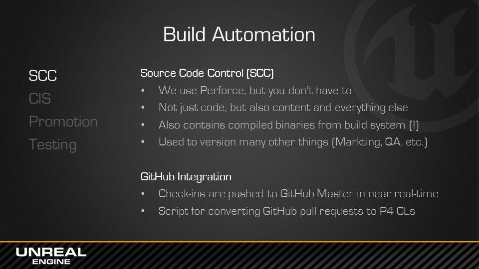 Build Automation SCC CIS Promotion Testing Source Code Control (SCC)