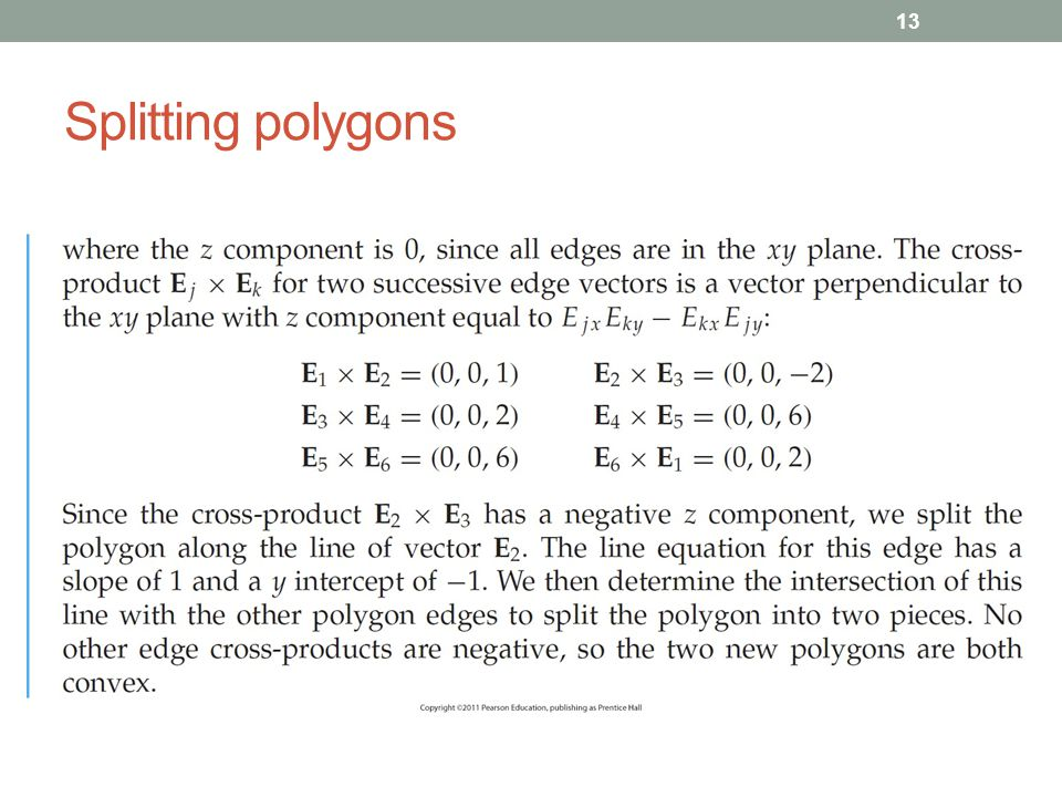 Splitting polygons