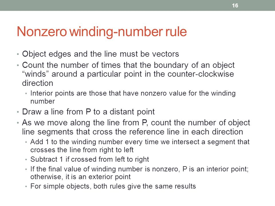 Nonzero winding-number rule