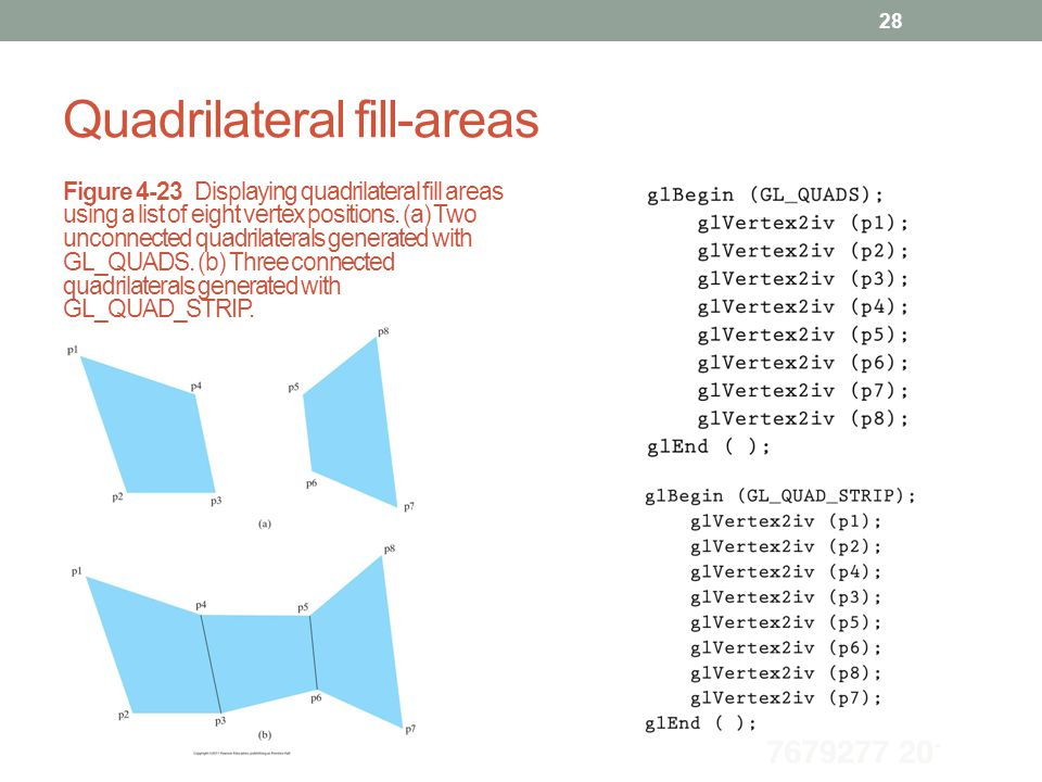 Quadrilateral fill-areas